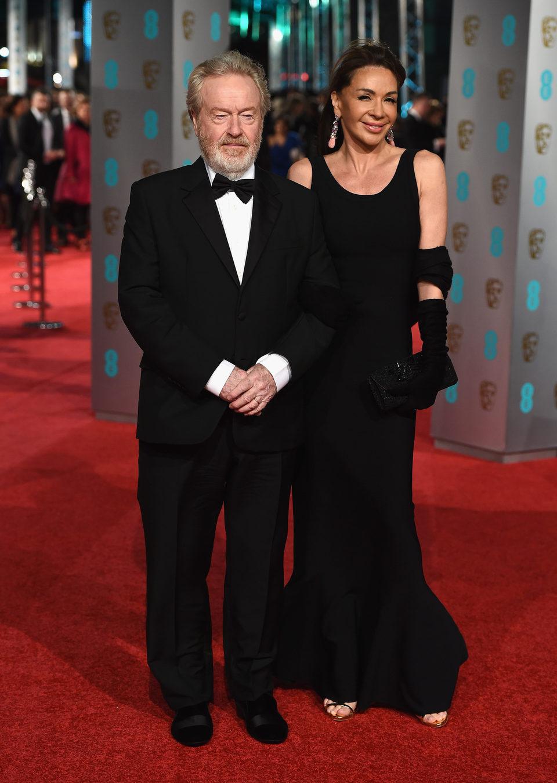 Ridley Scott en la alfombra roja de los BAFTA Awards 2016