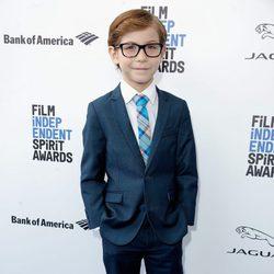 Jacob Tremblay en la alfombra roja de los Independent Spirit Awards 2016