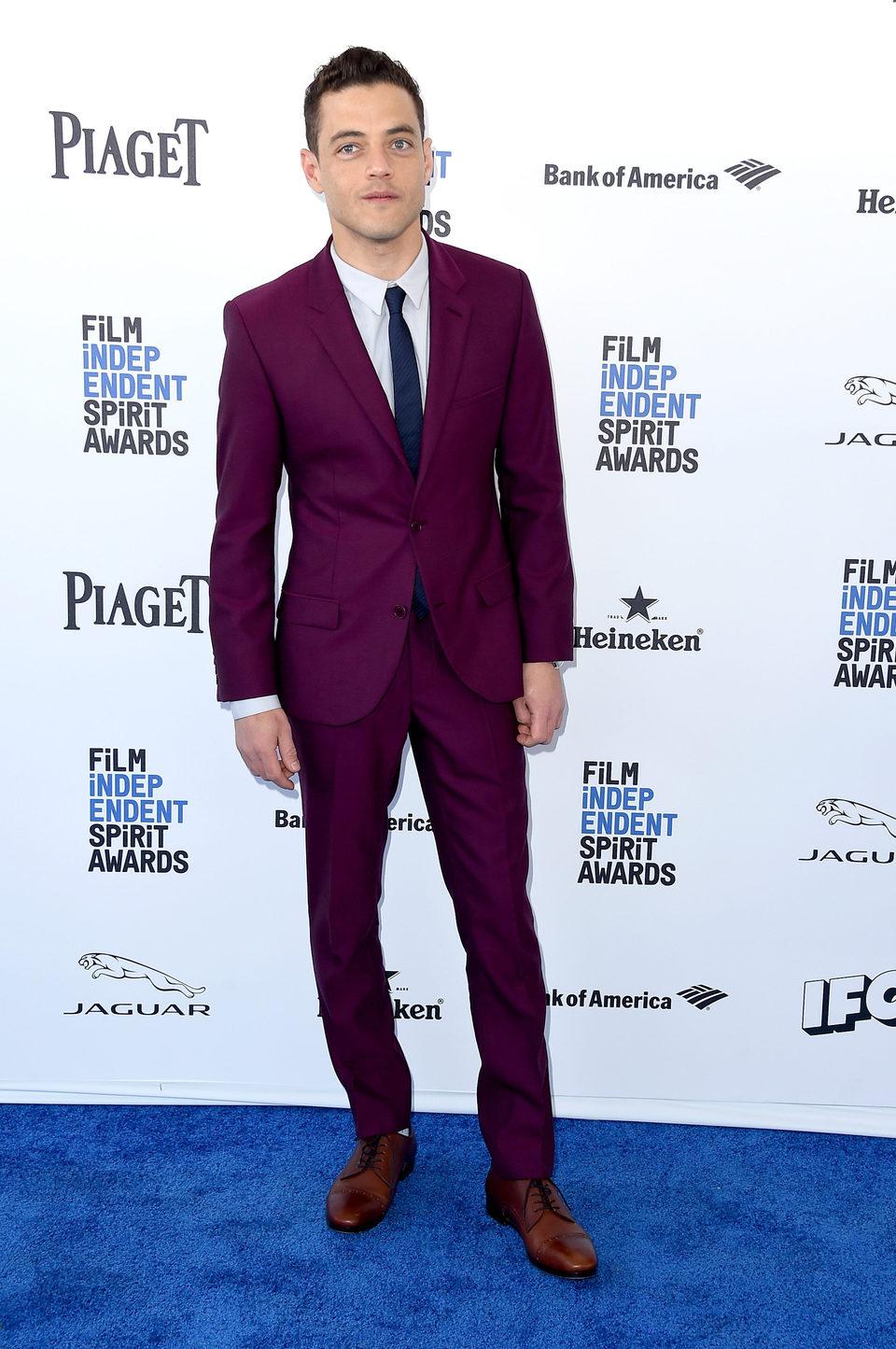 Rami Malek en la alfombra roja de los Independent Spirit Awards 2016