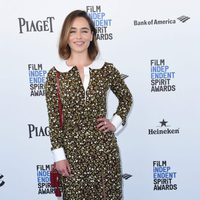 Emilia Clarke en la alfombra roja de los Independent Spirit Awards 2016