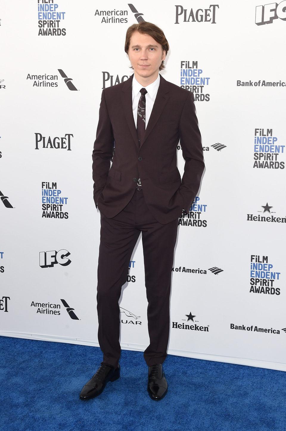 Paul Dano en la alfombra roja de los Independent Spirit Awards 2016