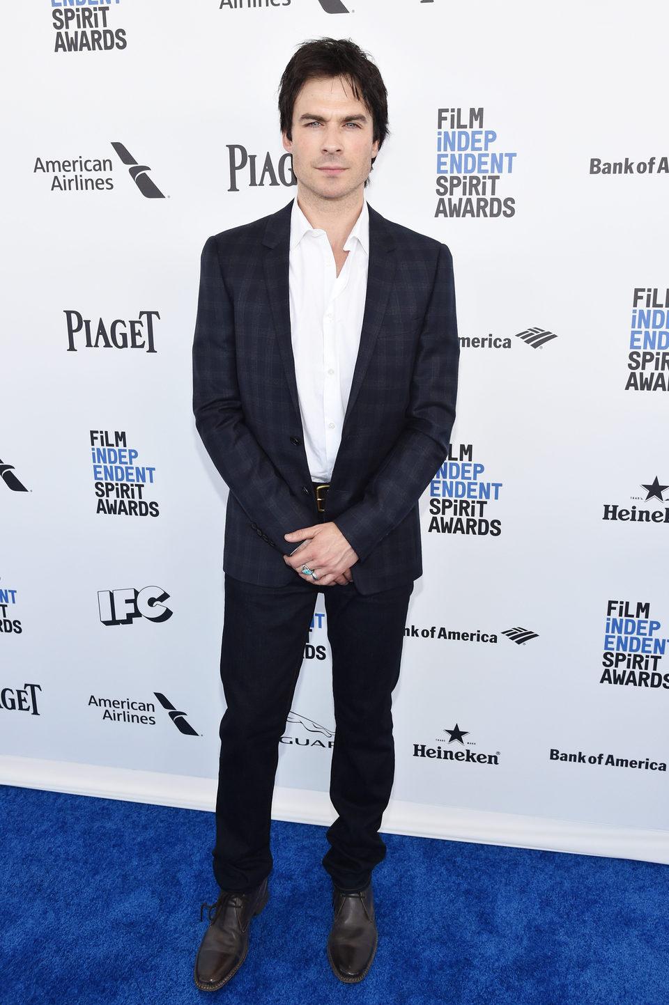 Ian Somerhalder en la alfombra roja de los Independent Spirit Awards 2016