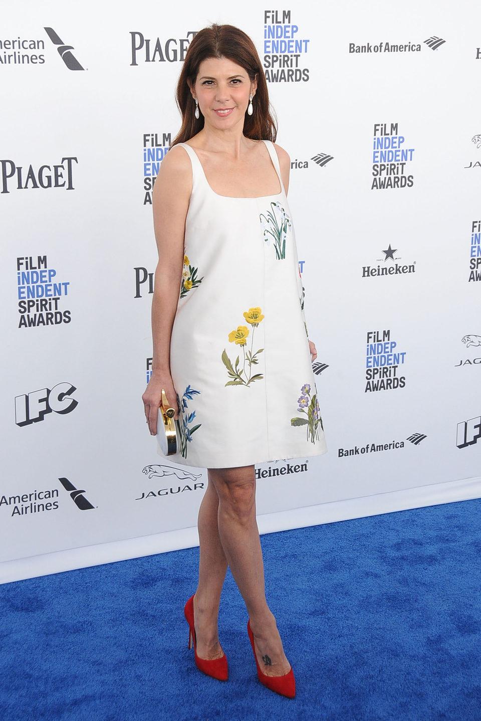 Marisa Tomei en la alfombra roja de los Independent Spirit Awards 2016