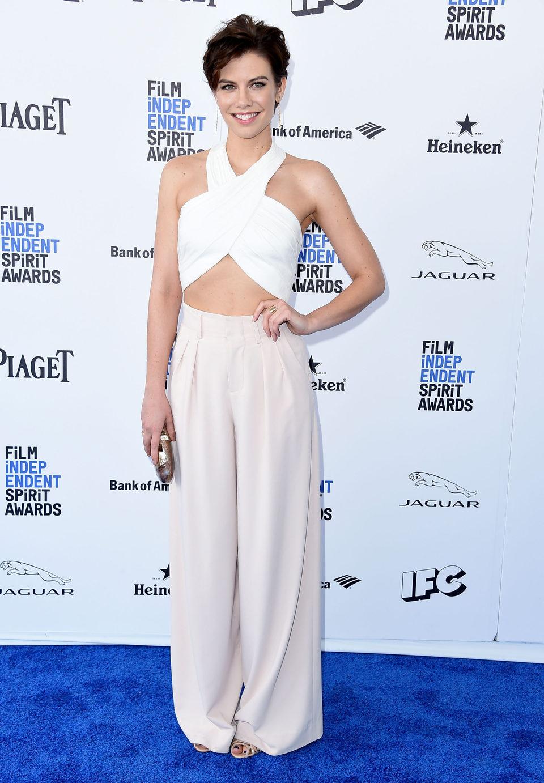 Lauren Cohan en la alfombra roja de los Independent Spirit Awards 2016