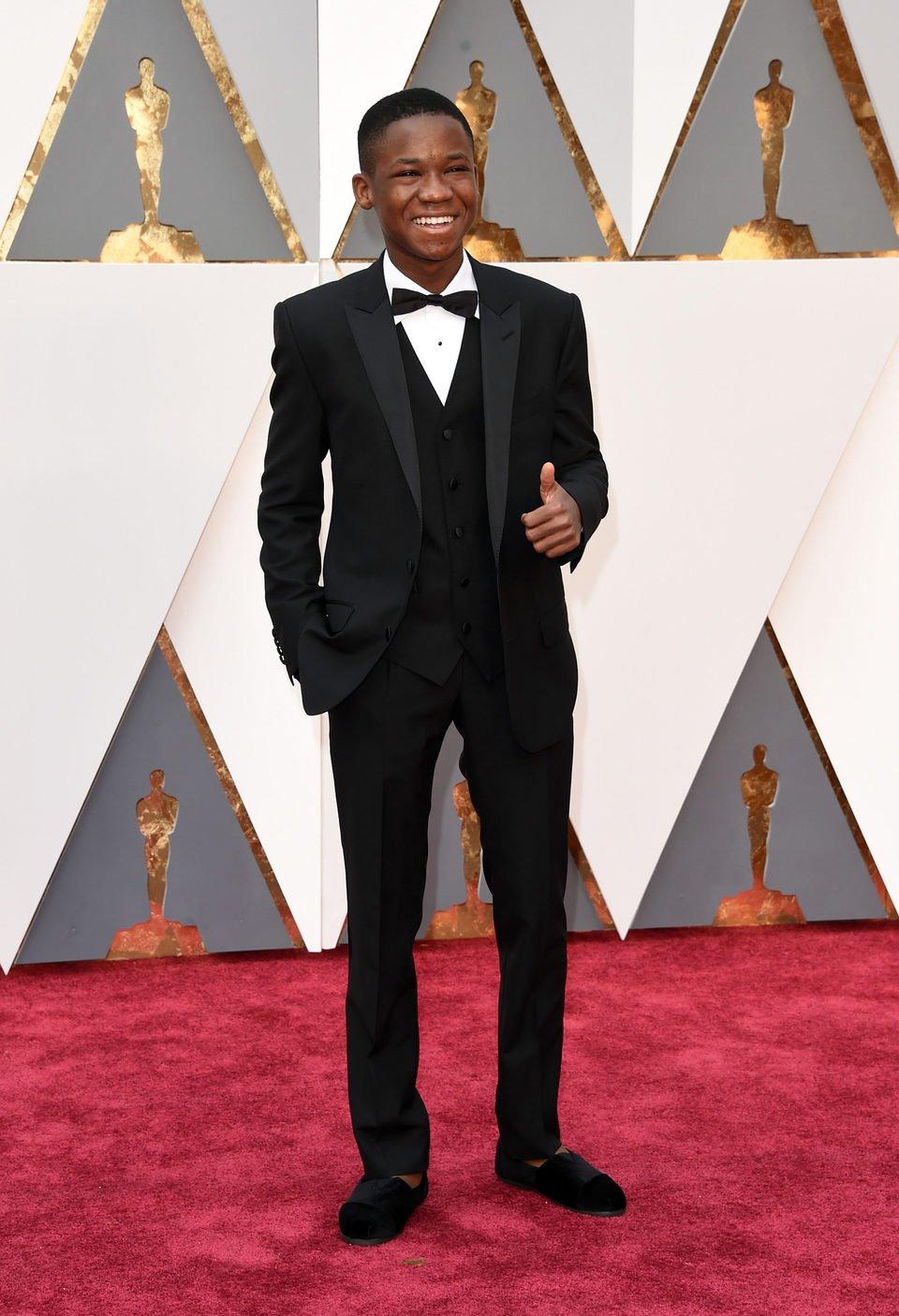 Abraham Attah en la alfombra roja de los Oscar 2016