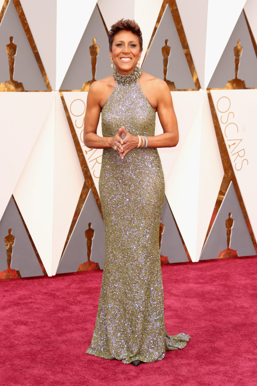 Robin Roberts en la alfombra roja de los Oscar 2016