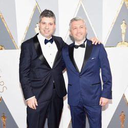 Evgeny Afineevsky en la alfombra roja de los Oscar 2016