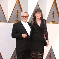 George Miller and Margaret Sixel at the Oscars 2016 red carpet