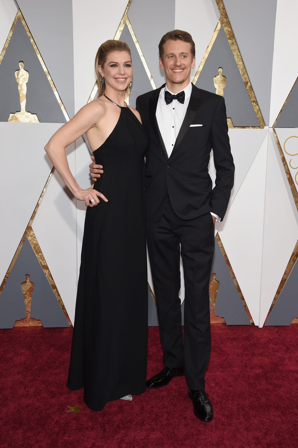 Courtney Marsh y Jerry Franck en la alfombra roja de los Oscar 2016