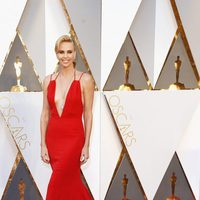 Charlize Theron en la alfombra roja de los Oscar 2016