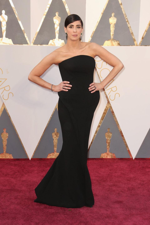Sarah Silverman en la alfombra roja de los Oscar 2016