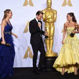 Brie Larson, Leonardo DiCaprio y Alicia Vikander Oscars 2016