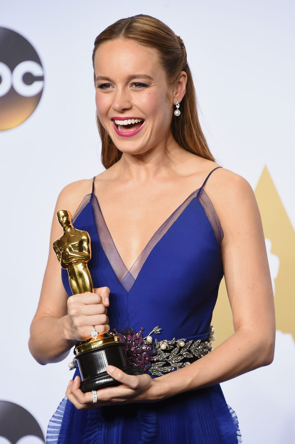 Brie Larson tras la ceremonia de los Oscar 2016