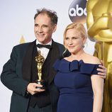 Mark Rylance y Patricia Arquette Oscars 2016
