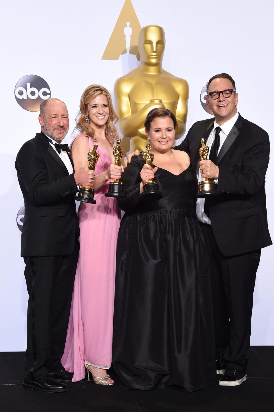 Steve Golin, Nicole Rocklin, Blye Pagon Faust y Michael Sugar Oscars 2016