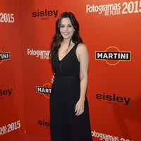 Elena Martínez en la alfombra roja de los Fotogramas de Plata 2015