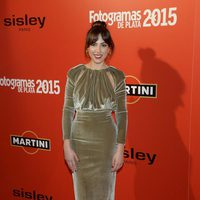 Alicia Rubio en la alfombra roja de los Fotogramas de Plata 2015