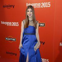 Alba Messa en la alfombra roja de los Fotogramas de Plata 2015