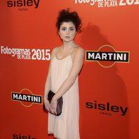 Olivia Decam en la alfombra roja de los Fotogramas de Plata 2015