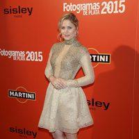 Lisi Linder en la alfombra roja de los Fotogramas de Plata 2015