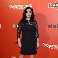 María Isasi en la alfombra roja de los Fotogramas de Plata 2015