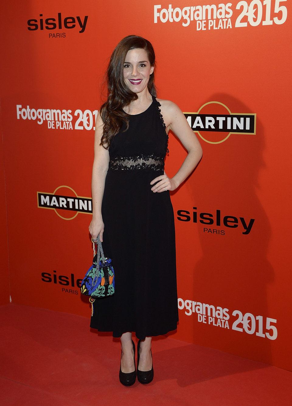 Nuria Gago en la alfombra roja de los Fotogramas de Plata 2015