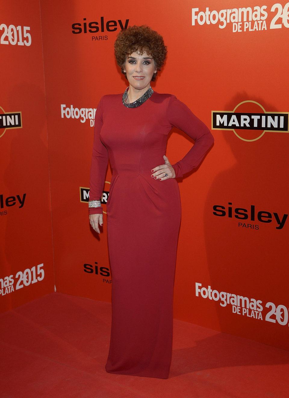 Anabel Alonso en la alfombra roja de los Fotogramas de Plata 2015