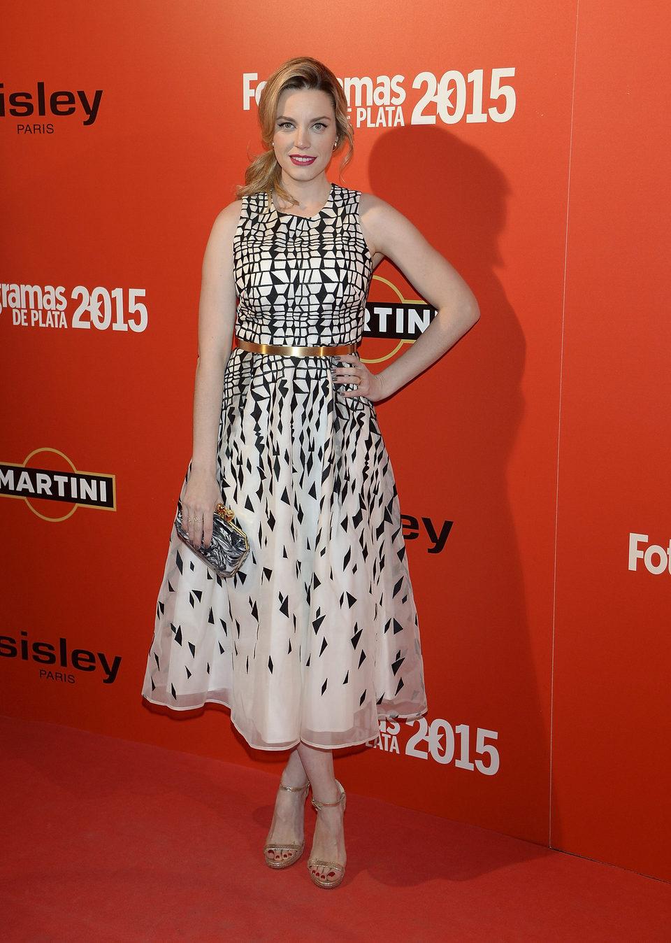 Carolina Bang en la alfombra roja de los Fotogramas de Plata 2015