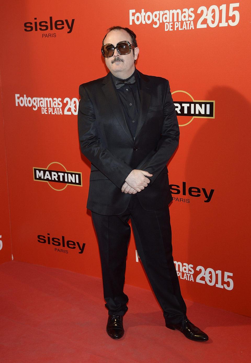 Carlos Areces en la alfombra roja de los Fotogramas de Plata 2015