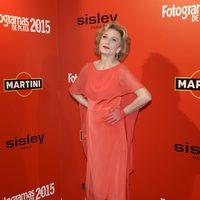 Marisa Paredes en la alfombra roja de los Fotogramas de Plata 2015