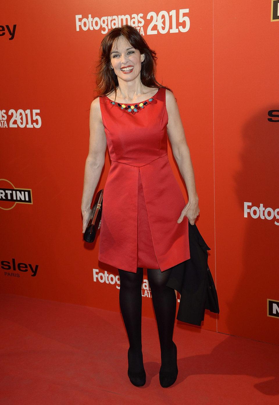 Silvia Marsó en la alfombra roja de los Fotogramas de Plata 2015