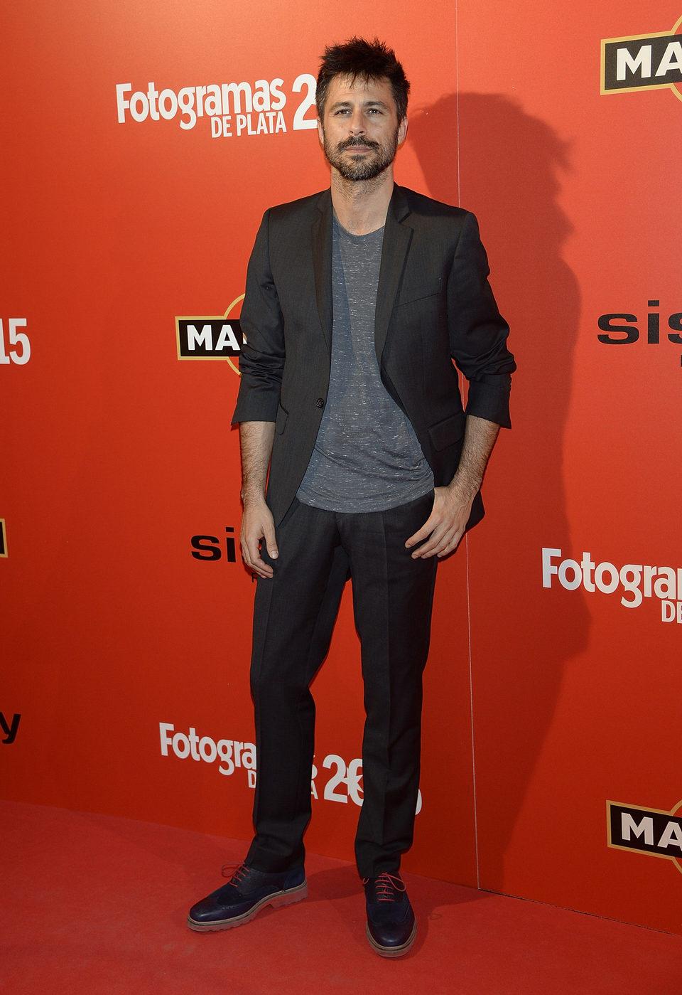 Hugo Silva en la alfombra roja de los Fotogramas de Plata 2015