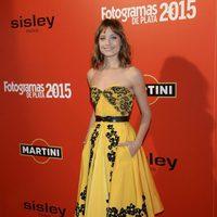 Michelle Jenner en la alfombra roja de los Fotogramas de Plata 2015