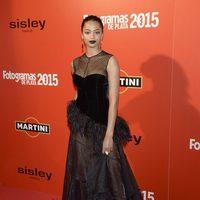 Berta Vázquez en la alfombra roja de los Fotogramas de Plata 2015