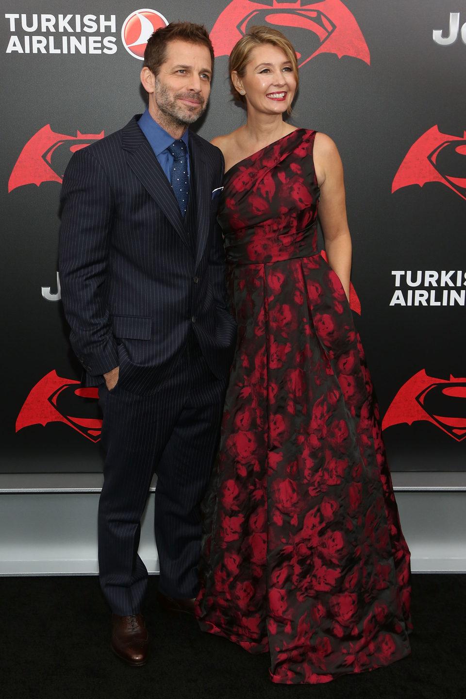 Zack Snyder y su esposa en la premiere de 'Batman v Superman' en Nueva York