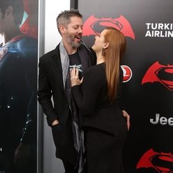 Darren Le Gallo y Amy Adams juntos en la premiere de 'Batman v Superman' en Nueva York