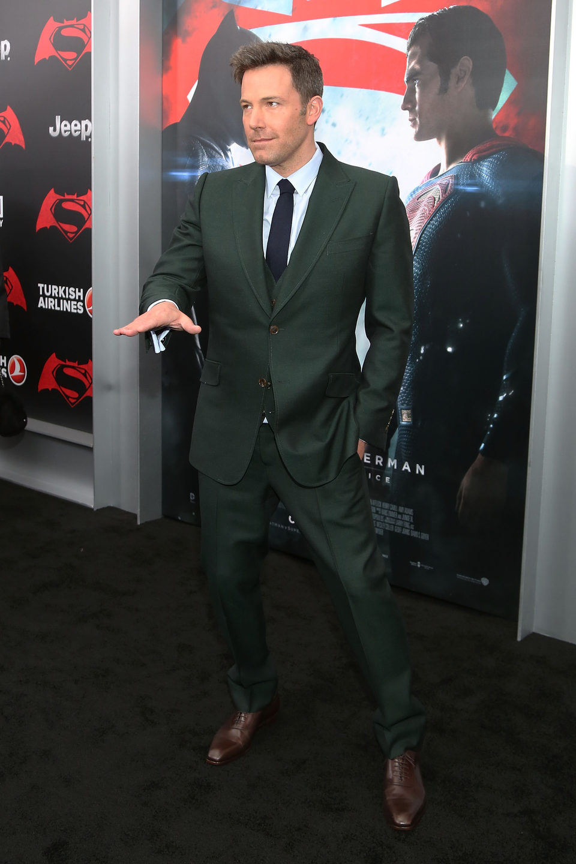 Ben Affleck en la premiere de 'Batman v Superman' en Nueva York