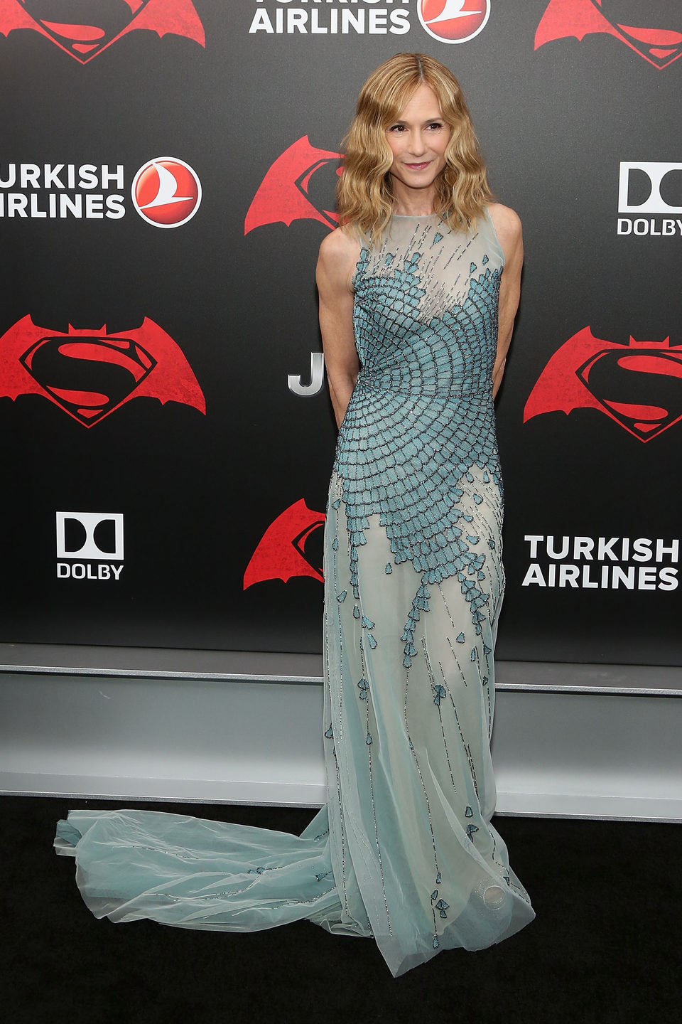 Holly Hunter en la premiere de 'Batman v Superman' en Nueva York