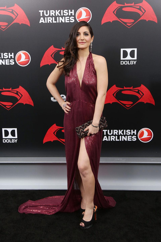 Rebecca Buller en la premiere de 'Batman v Superman' en Nueva York