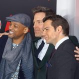 Will Smith, Ben Affleck y Henry Cavill en la premiere de 'Batman v Superman' en Nueva York