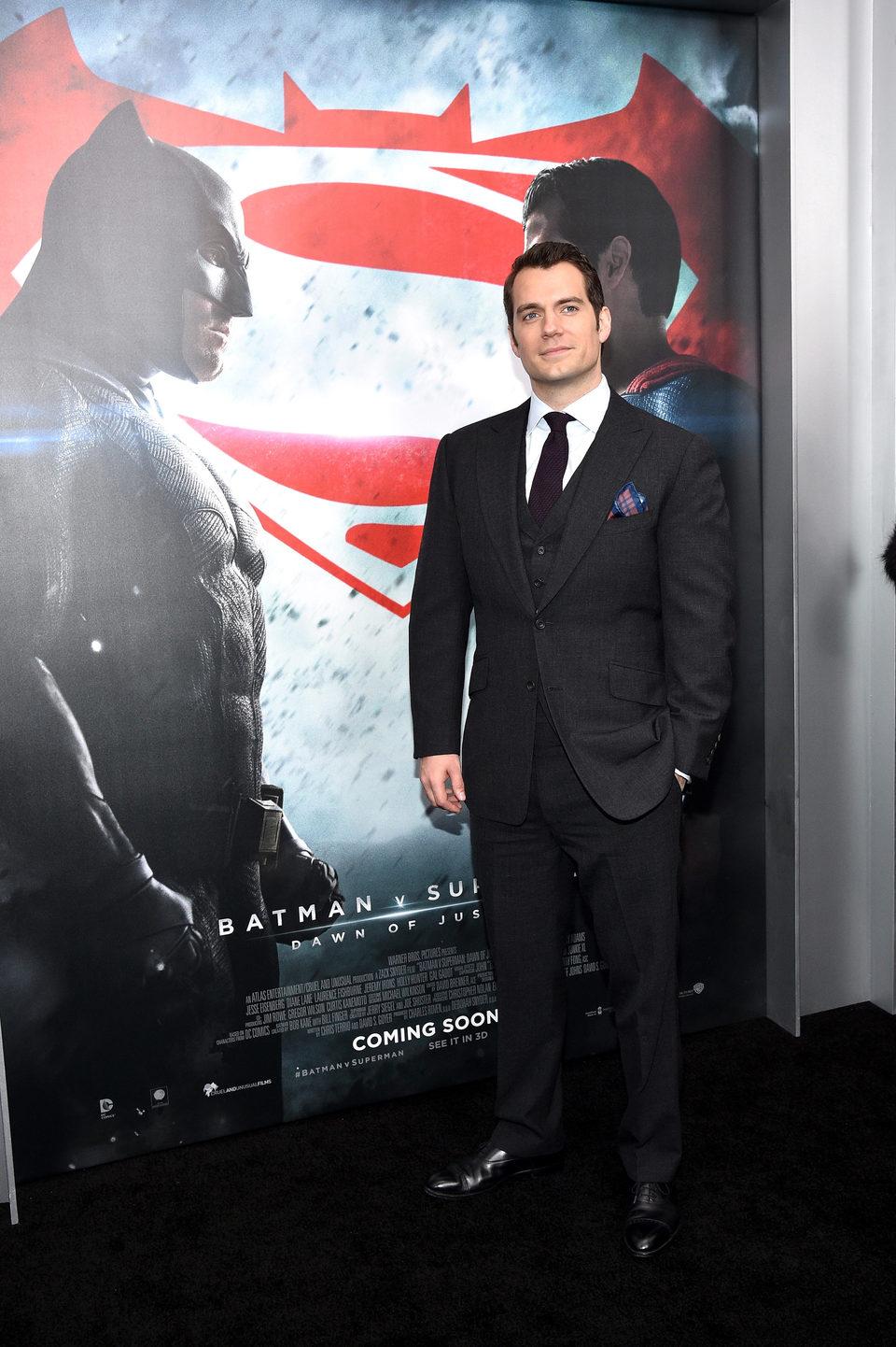 Henry Cavill en la premiere de 'Batman v Superman' en Nueva York