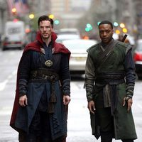 Benedict Cumberbatch and Chiwetel Ejiofor as Doctor Strange and Baron Mordo