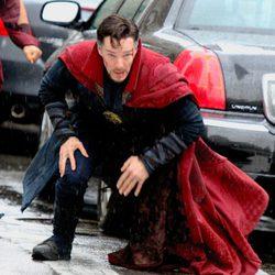 Benedict Cumberbatch magullado en el rodaje de 'Doctor Extraño'