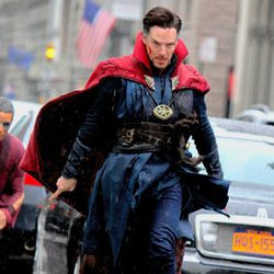Benedict Cumberbatch a punto de volar en el rodaje de 'Doctor Extraño'
