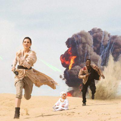 La pareja recrea la mítica escena de 'El despertar de la fuerza'