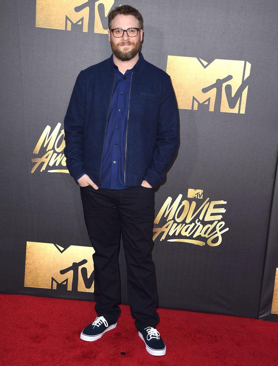 Seth Rogen en la alfombra roja de los MTV Movie Awards 2016