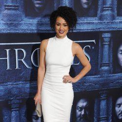 Nathalie Emmanuel en la premiere de la sexta temporada de 'Juego de Tronos'