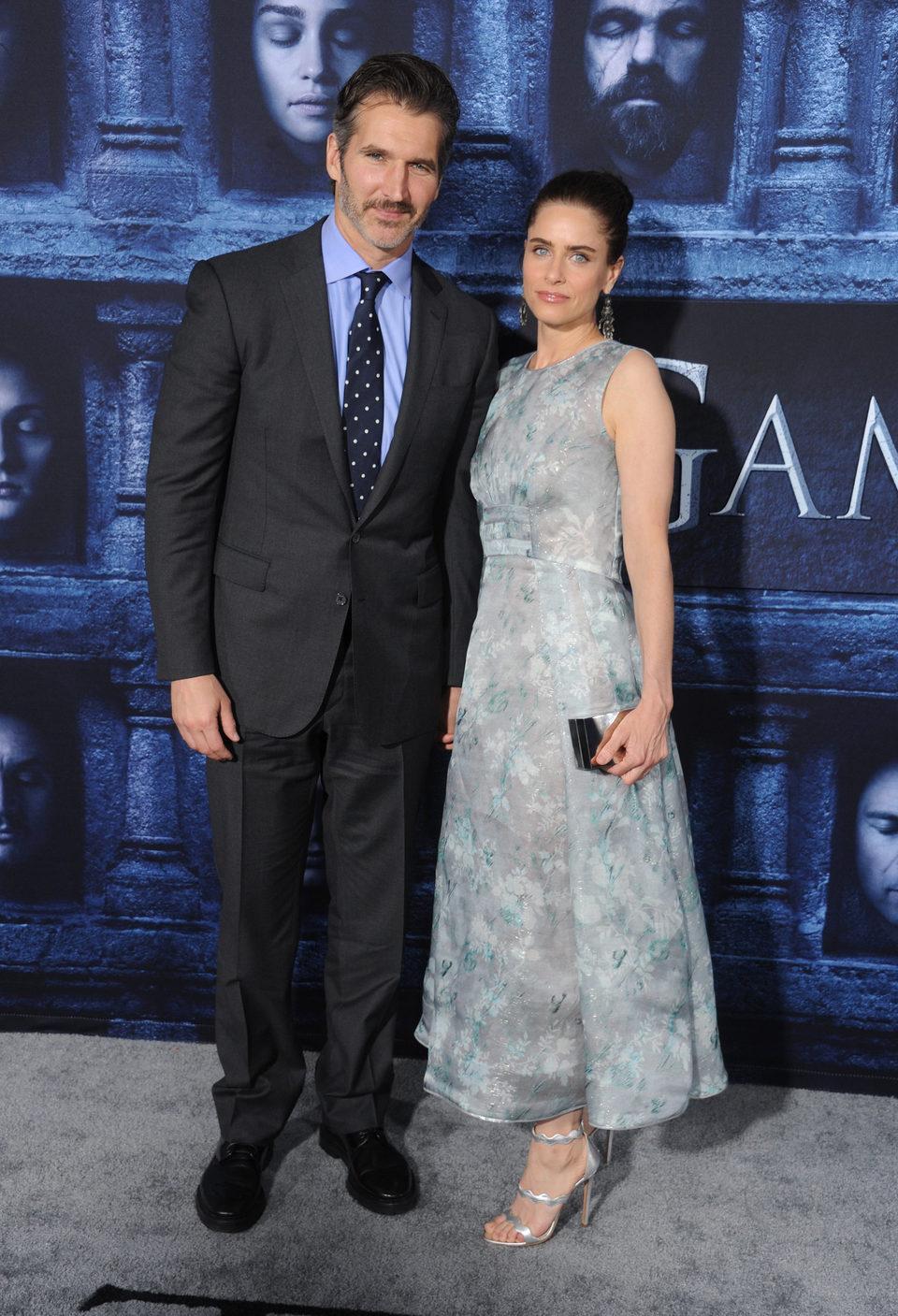 Amanda Peet y David Benioff en la premiere de la sexta temporada de 'Juego de Tronos'