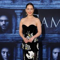 Emilia Clarke at the premiere of 'Game of Thrones' Season Six