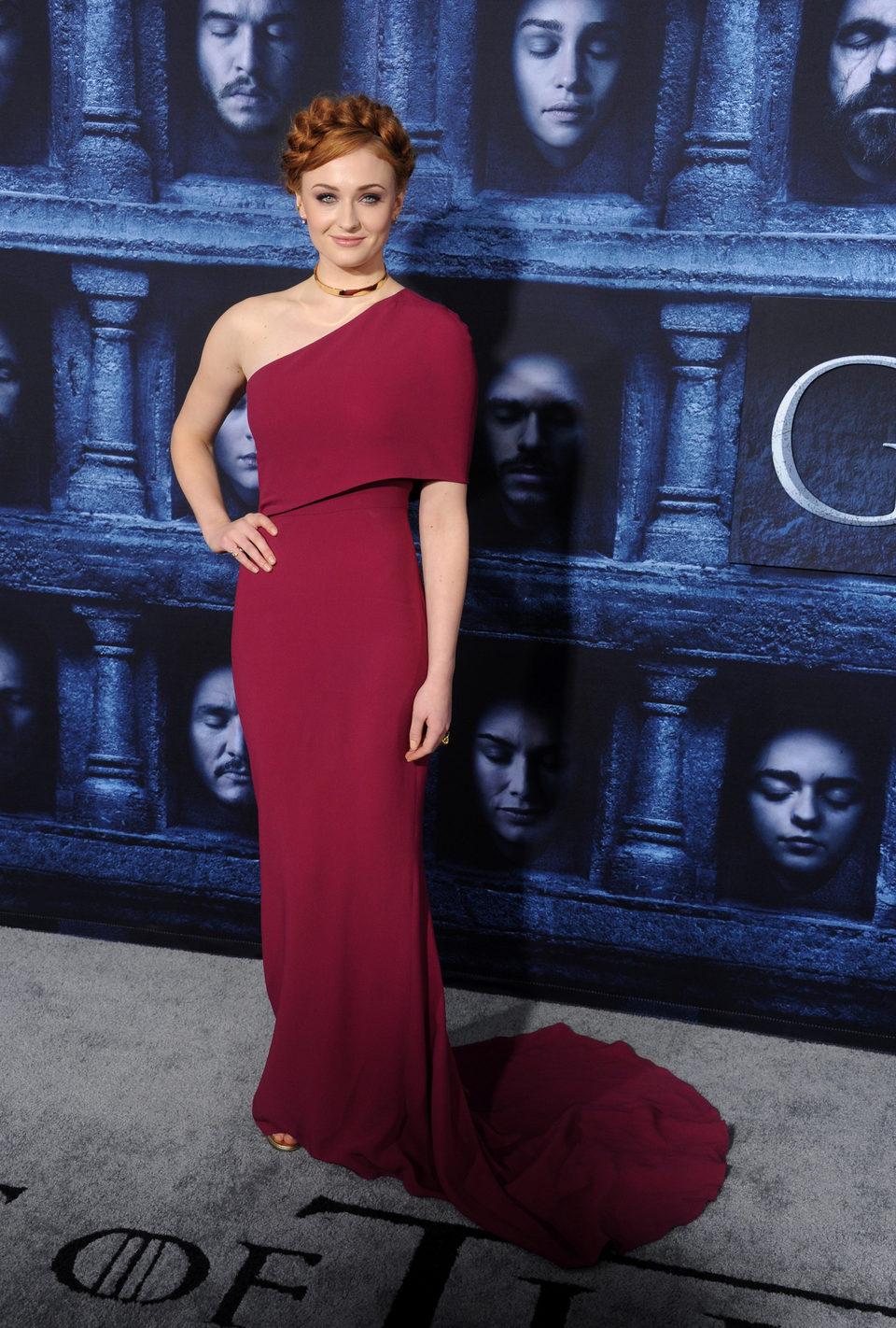 Sophie Turner en la premiere de la sexta temporada de 'Juego de Tronos'
